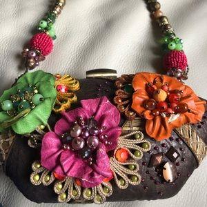 Mary Frances Flower Handbag